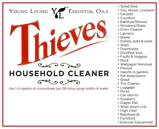 Many uses of Thieves Cleaner